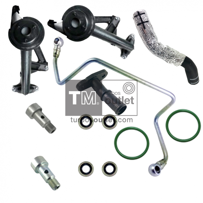 227012 Oil inlet & outlet pipe kit PSA | Turbos Outlet